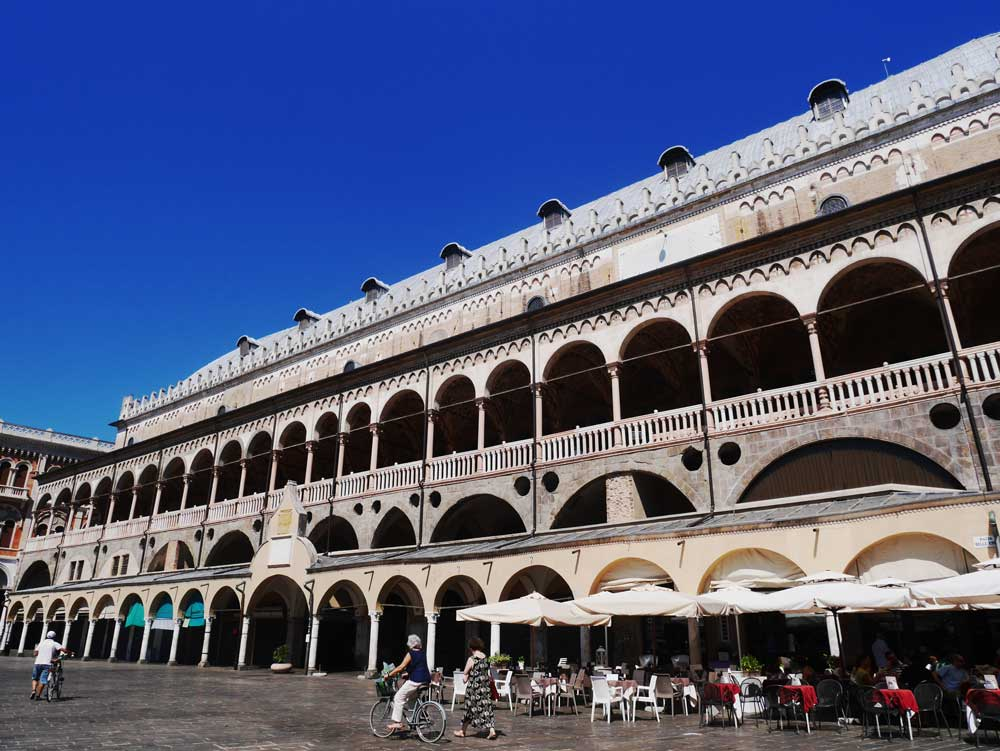 The old and dated exterior of Palazzo della Ragione, Padua, Veneto, Italy | Laugh Travel Eat