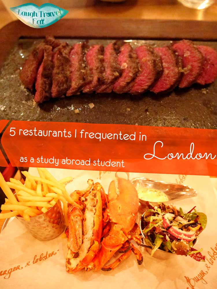 5 restaurants i frequented in London as a study abroad student