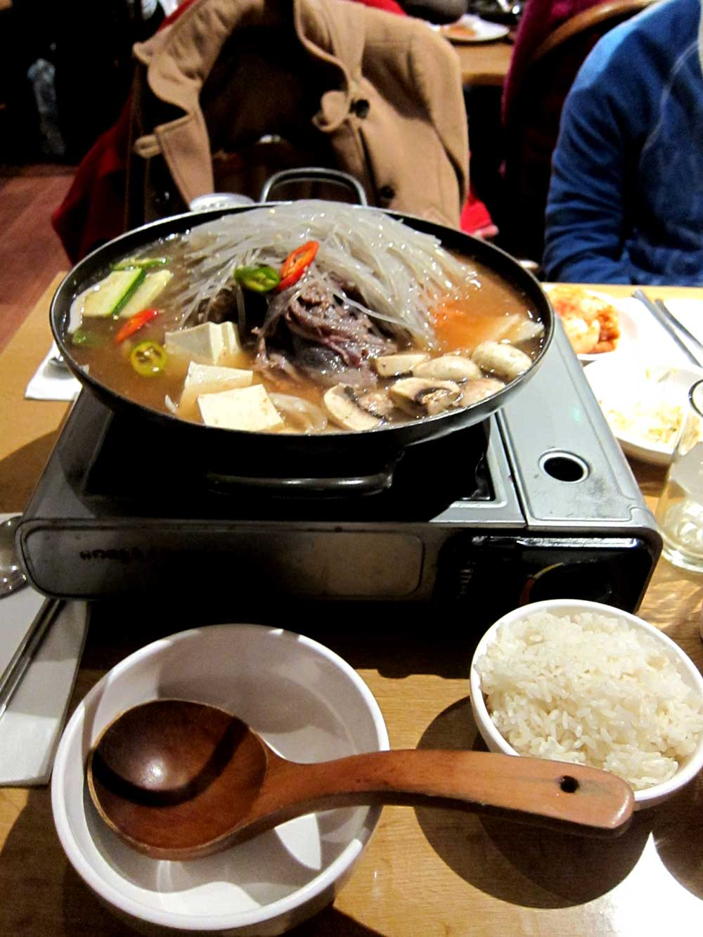 I appologise for the bad photo - it turns out I go there so much that I only have this shot of the hot pot from 4 years ago...
