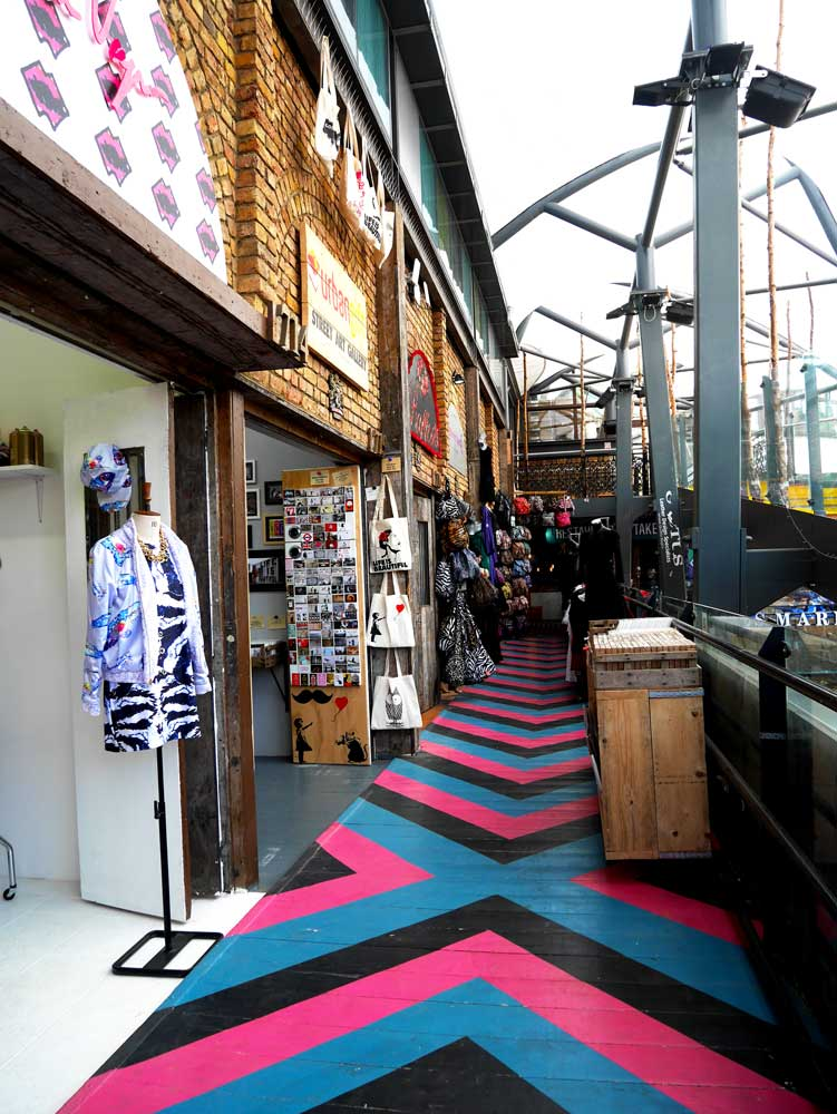 The newly opened section of the Camden Market with colourful floors, Camden Town, London, UK | Laugh Travel Eat