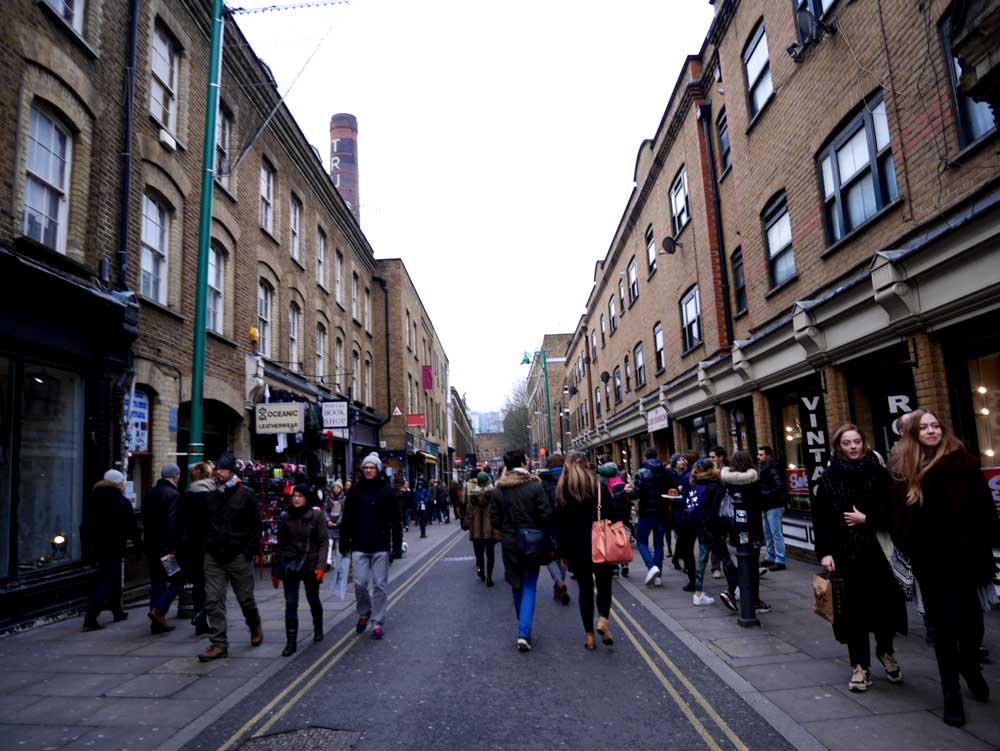 The end of Brick Lane - where stalls have ended with stores, Brick Lane, East London, UK | Laugh Travel Eat