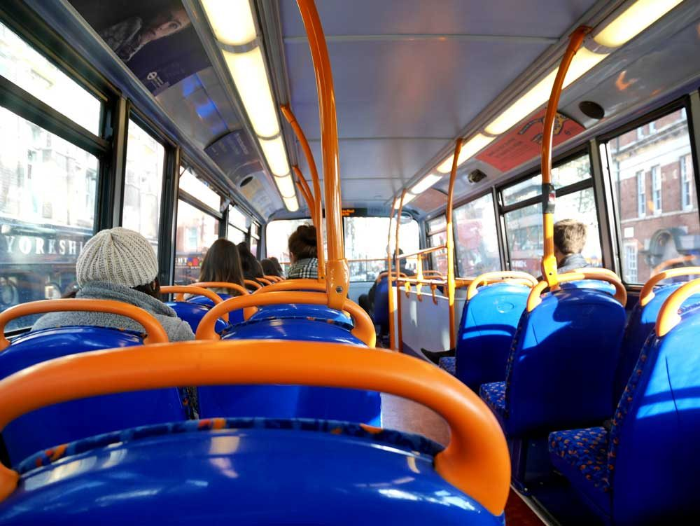 The interior of your stereotypical London bus, London | Laugh Travel Eat