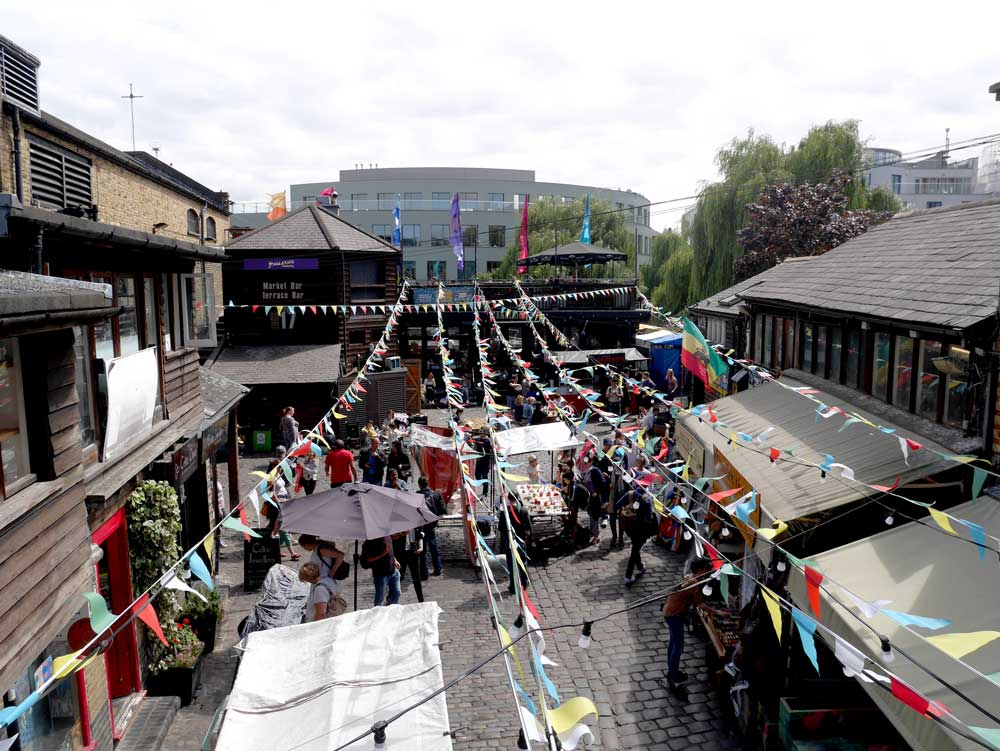 The street food section of the market along the canal, Camden Town, London, UK | Laugh Travel Eat