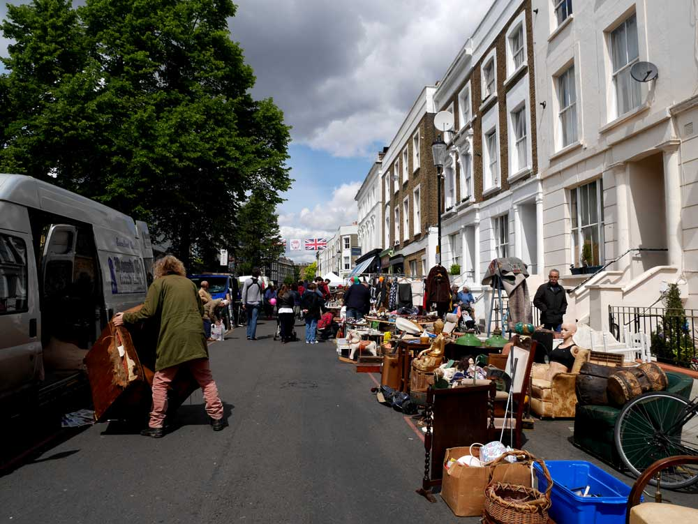 The end of Portobello Road Market, Notting Hill, London, UK | Laugh Travel Eat