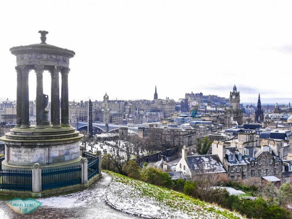 Classical shoot of Edinburgh from Calton Hill in Edinburgh, Scotland - Laugh Travel Eat