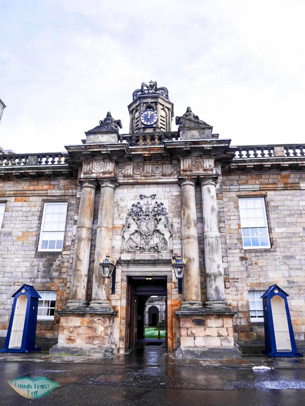 Holyrood Palace entrance - Laugh Travel Eat