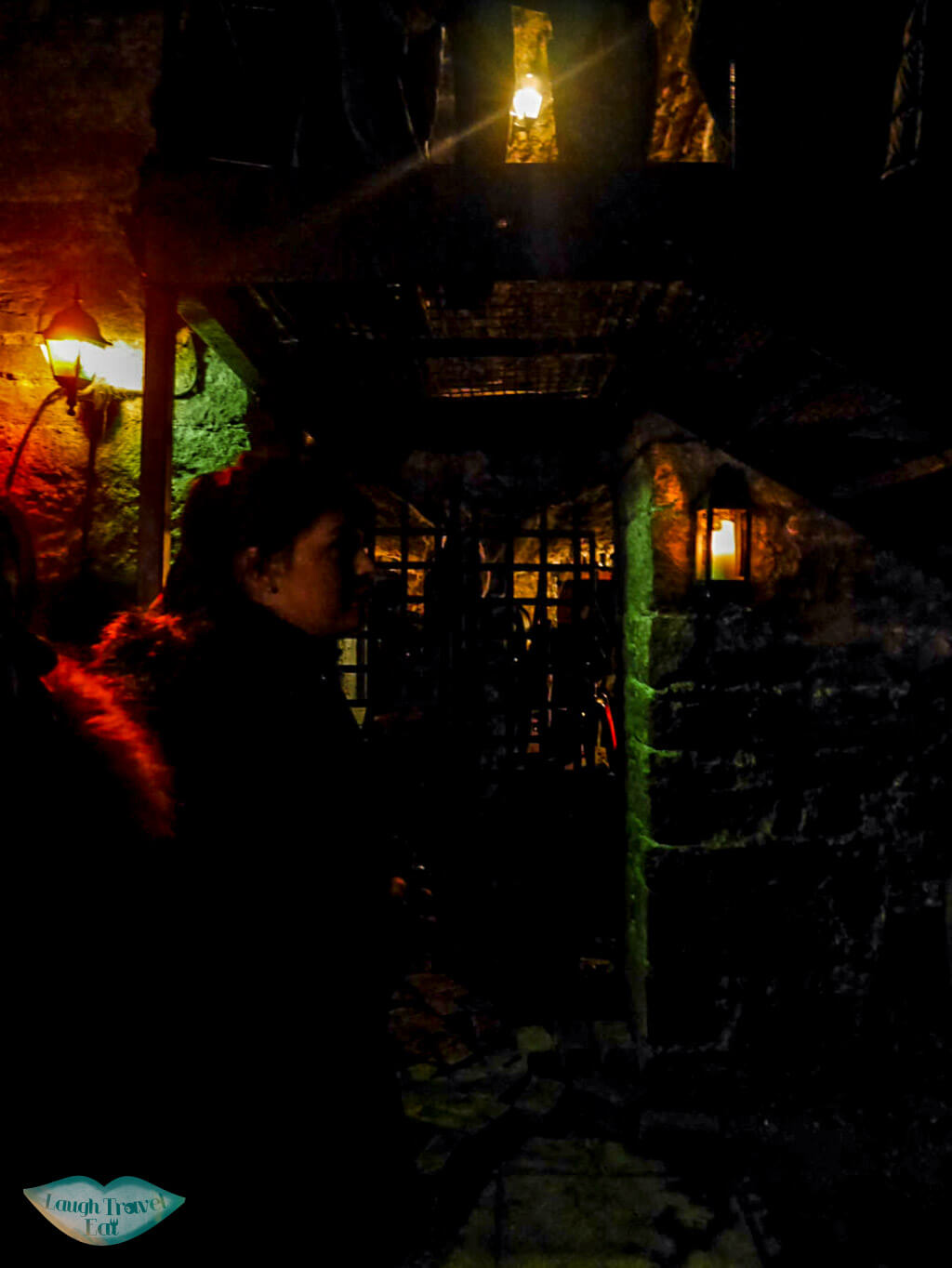 Inside South Bridge Vault in Edinburgh, Scotland with the Double Dead Tour - Laugh Travel Eat