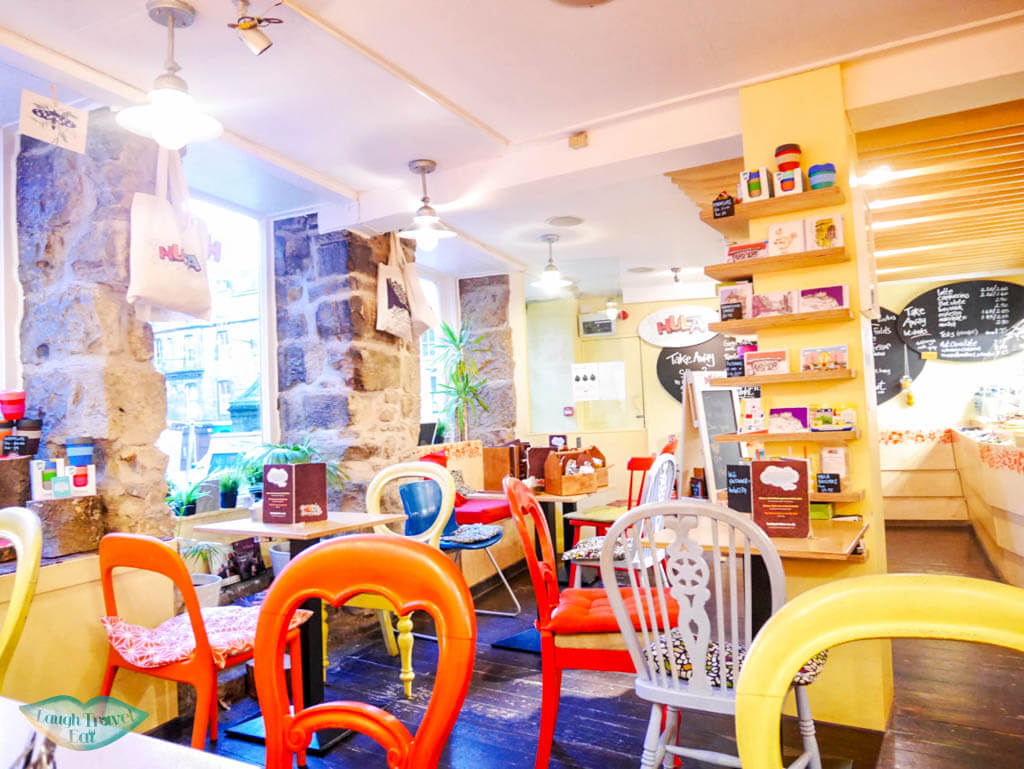 Interior of Hula Juice bar in Edinburgh, Scotland - Laugh Travel Eat