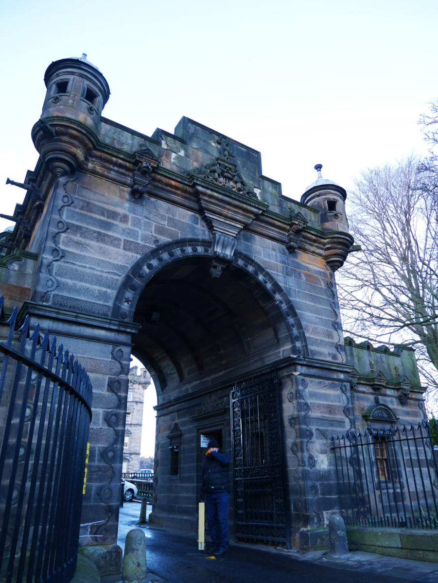 Front gate of George Heriot's School in Edinburgh | Laugh Travel Eat