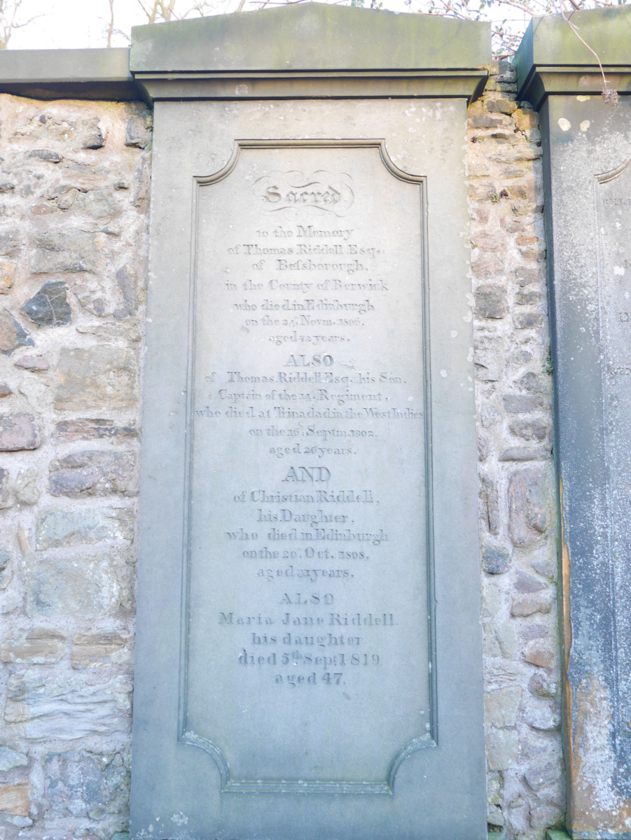 Tom Riddell gravestone in Greyfrairs Graveyard, Ediniburgh, which inspired Lord Voldemont in Harry Poter | Laugh Travel Eat