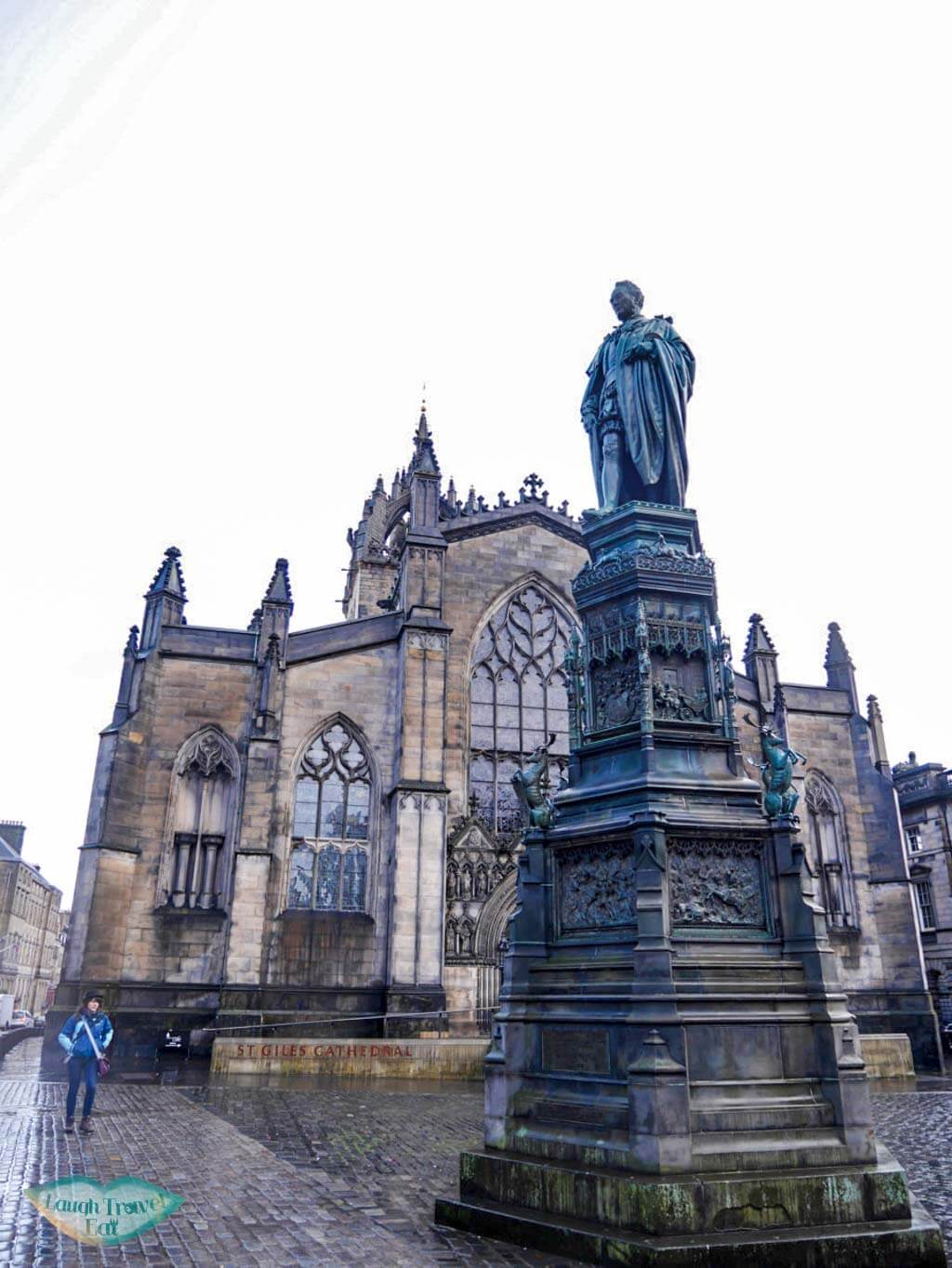 St Gile's Cathedral in the bleak Scottish winter - Laugh Travel Eat