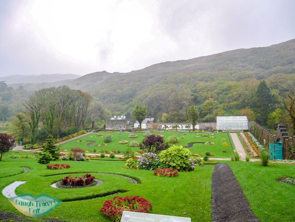 Walled-garden-Kylemore-Abbey-Connemara-rail-tour-dublin-Ireland-Laugh-Travel-Eat