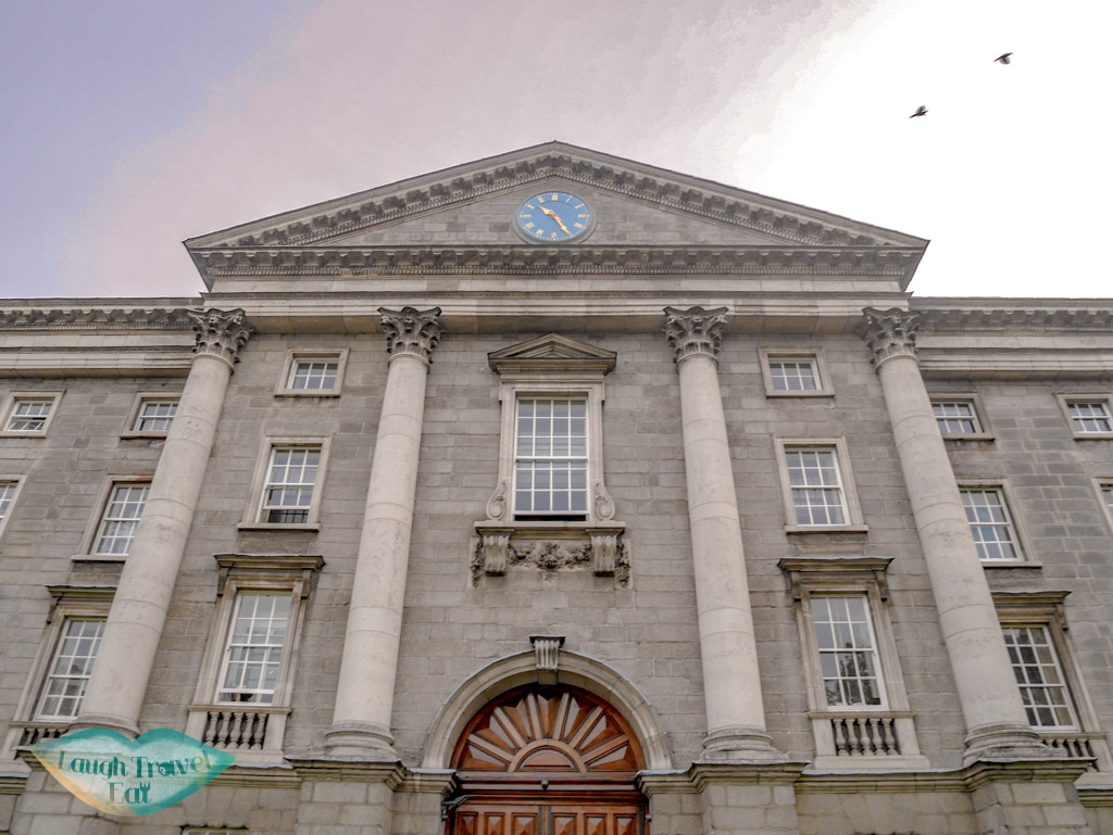 front-of-trinity-college-dublin-ireland-Laugh-Travel-Eat-1
