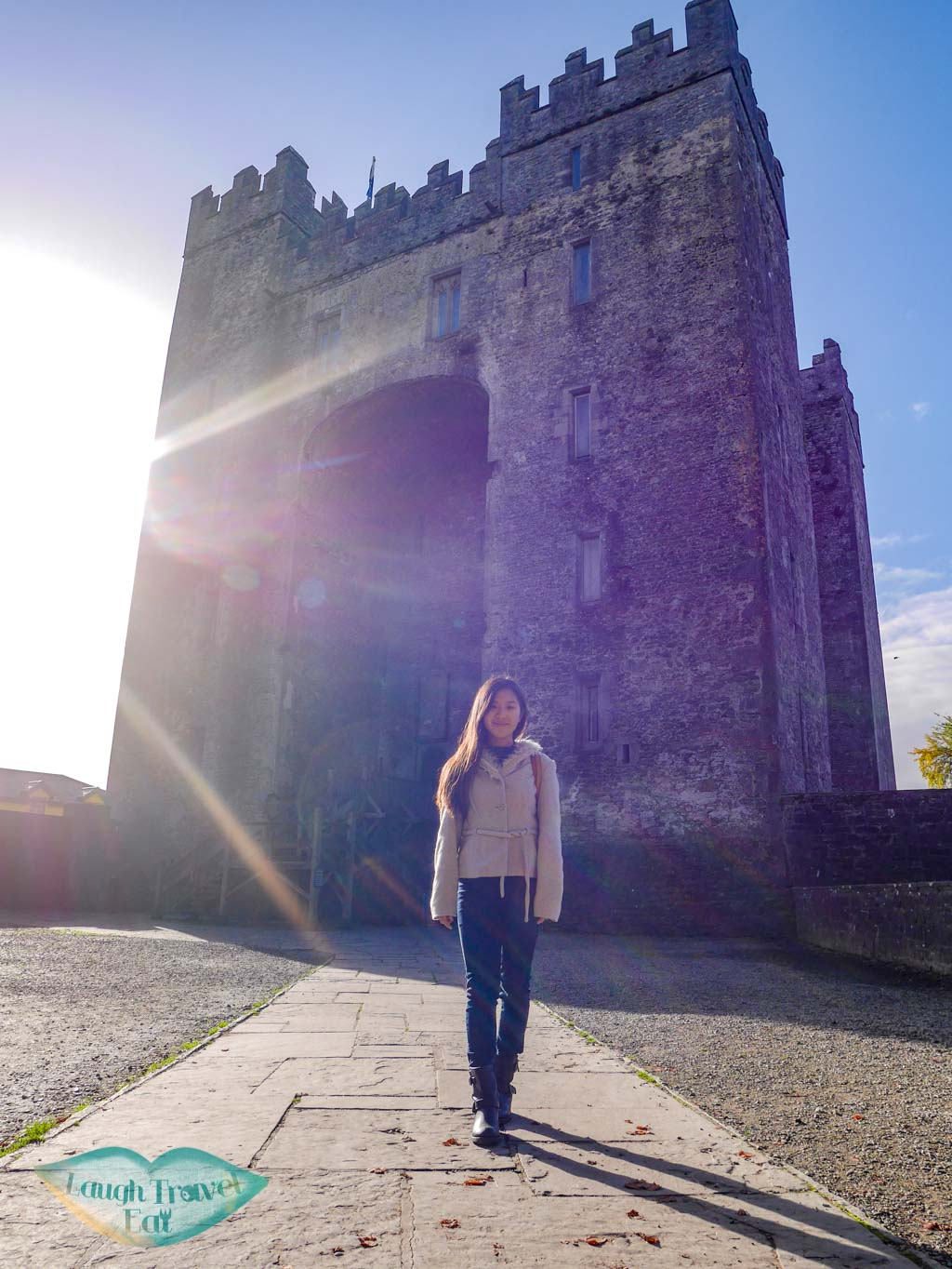 sunnt-moment-at-Bunratty-castle-rail-tour-dublin-Ireland-Laugh-Travel-Eat