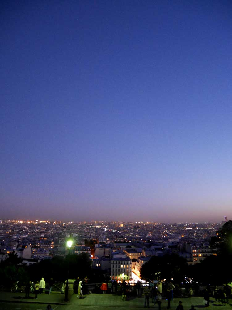 Sunset at Montmartre - the view of Paris from steps of Sacre Coeur, Paris | Laugh Travel Eat