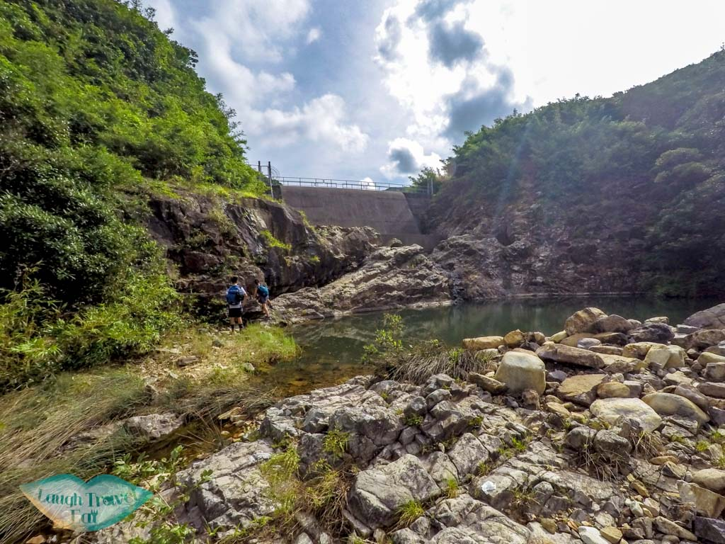 Dam-along-the-Luk-Wu-Hiking-Trail-up-from-the-four-consecutive-pools-and-falls-Sai-Kung-Hong-Kong-Laugh-Travel-Eat