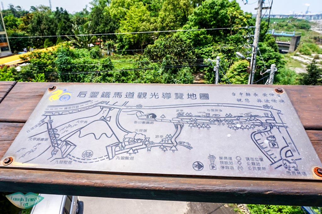 Map of Ho Fon Bikeway in Taichung, Taiwan - Laugh Travel Eat