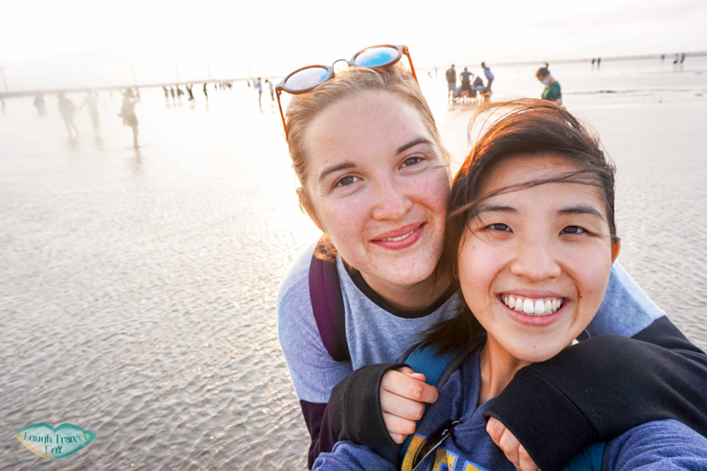 Selfie at the Kaomei Wetland, Taichung Taiwan | Laugh Travel Eat