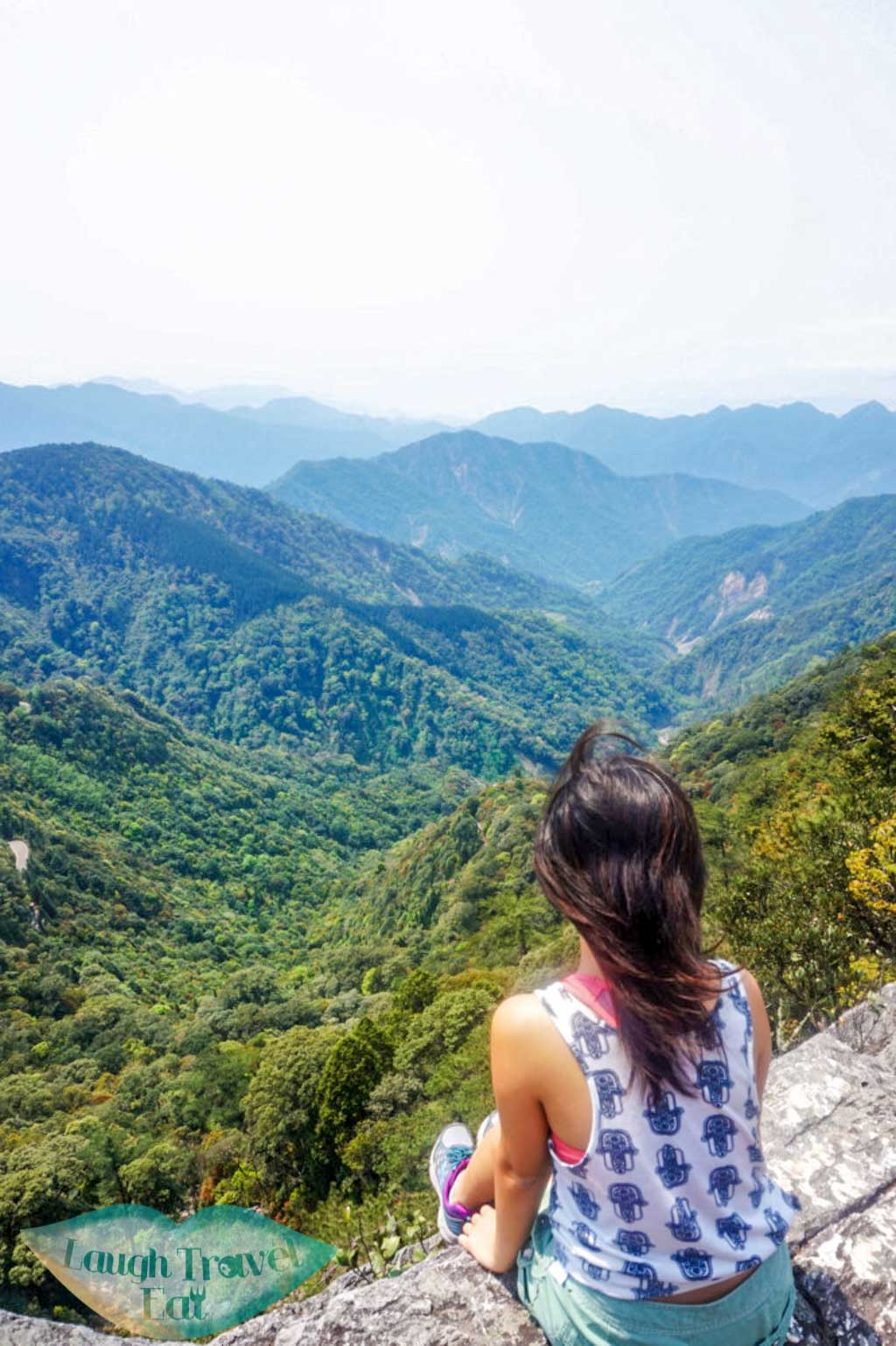 Stunning view of valley with rivers along the trail up to Yuan Zui Mountain in Dasyueshan National Forest Recreational Area, Taichung - Laugh Travel Eat