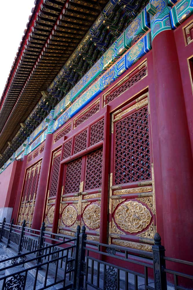 The back of the Hall of Supreme Harmony - intricate wood work
