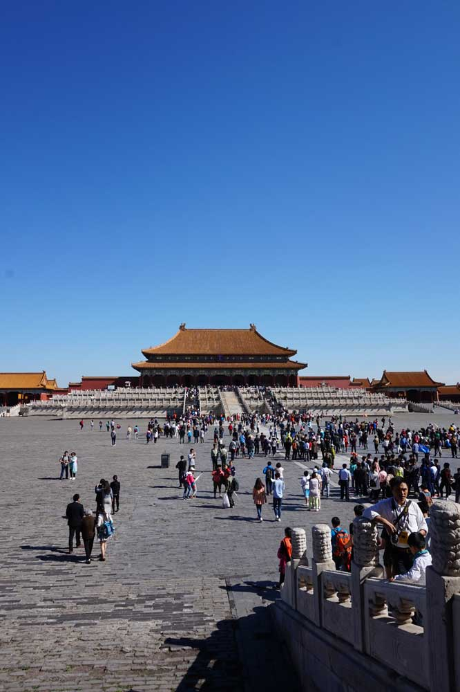Walking towards the Hall of Supreme Harmony, Forbidden City, Beijing | Laugh Travel Eat