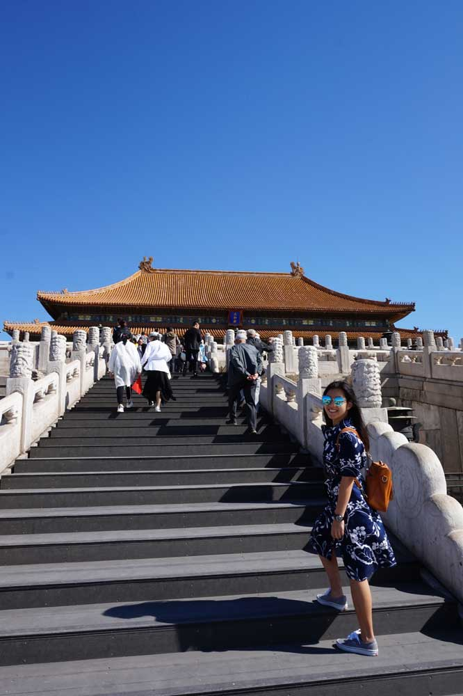 Walking up the stairs to Hall of Supreme Harmony, Forbidden City, Beijing | Laugh Travel Eat