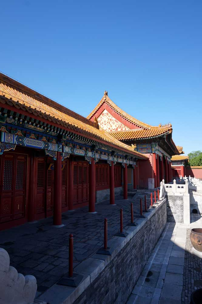Going down via the side stairs from Gate of Supreme Harmony , Forbidden City, Beijing | Laugh Travel Eat