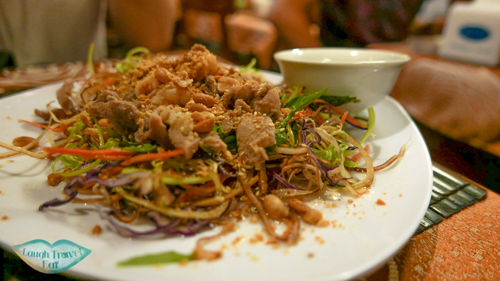 Banana Flower Salad, Nina Cafe, Hue, Vietnam - Laugh Travel Eat