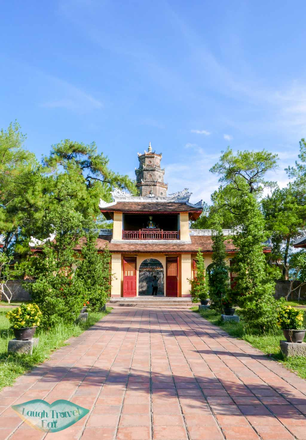 Small temple behind Thien Mu Pagonda, Hue, Vietnam - Laugh Travel Eat