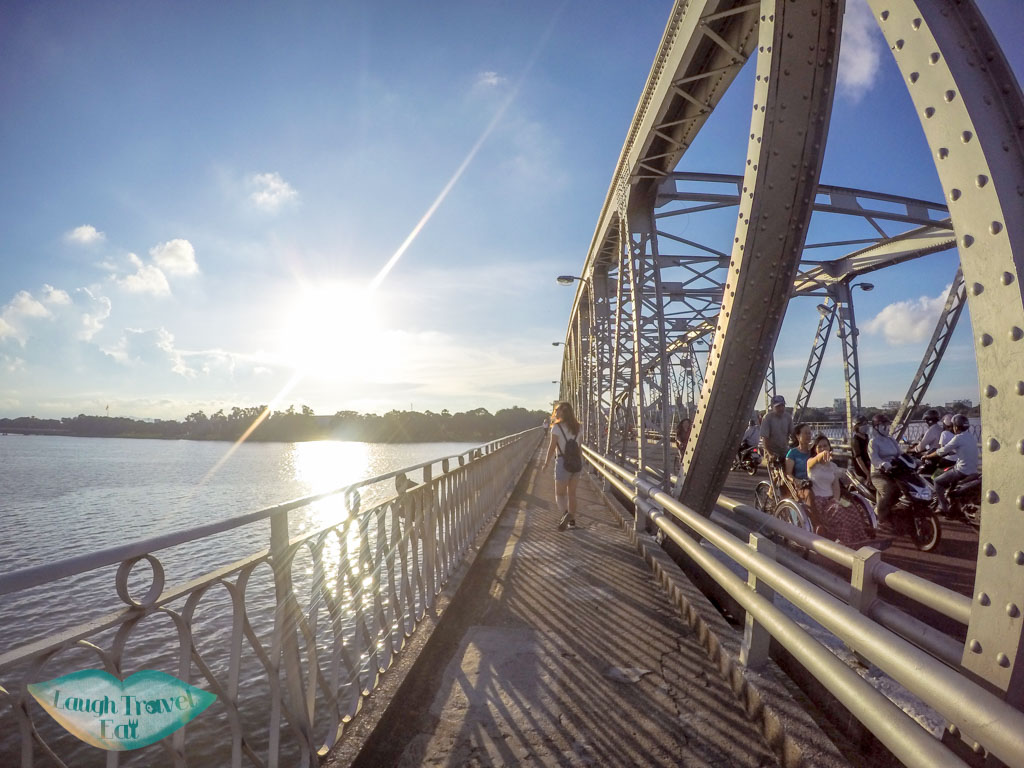 view of truong tien bridge, hue, vietnam - laugh travel eat