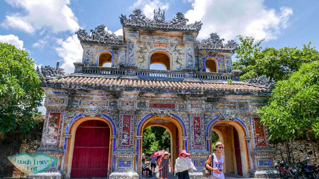 a beautiful and intricate gate Hue Citadel, Hue, Vietnam - Laugh Travel Eat