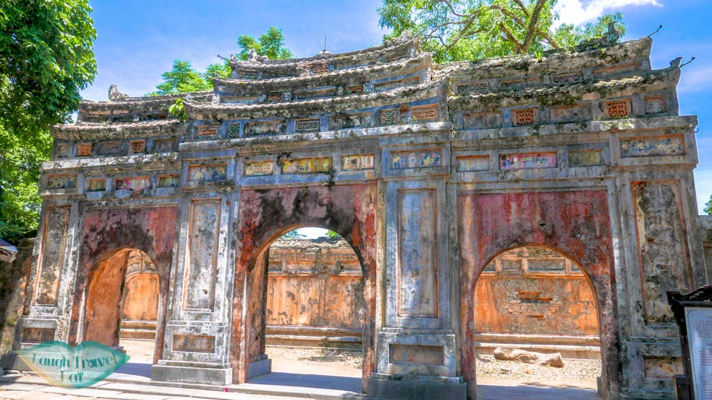 gate in poor condition, Hue Citadel, Hue, Vietnam - Laugh Travel Eat