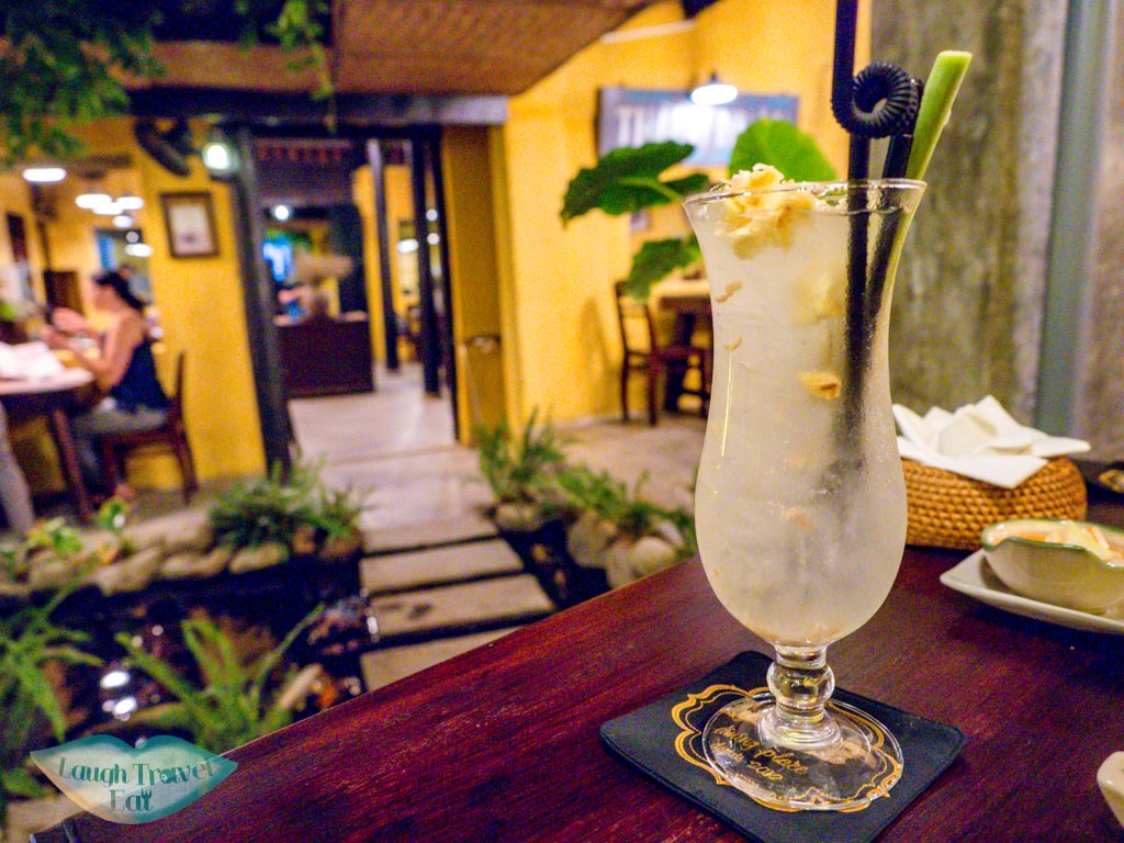 ginger and lemongrass drink le fe dining room hoi an vietnam - laugh travel eat