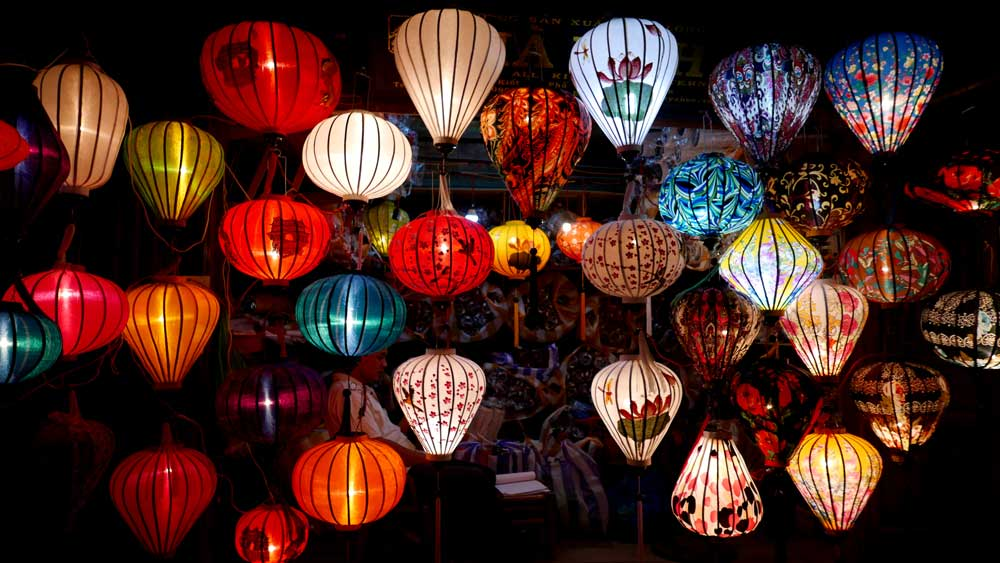 Lanterns at night in Hoi An, Vietnam