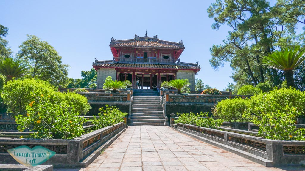 pavillion in Minh Mang Tomb, Hue, Vietnam - Laugh Travel Eat