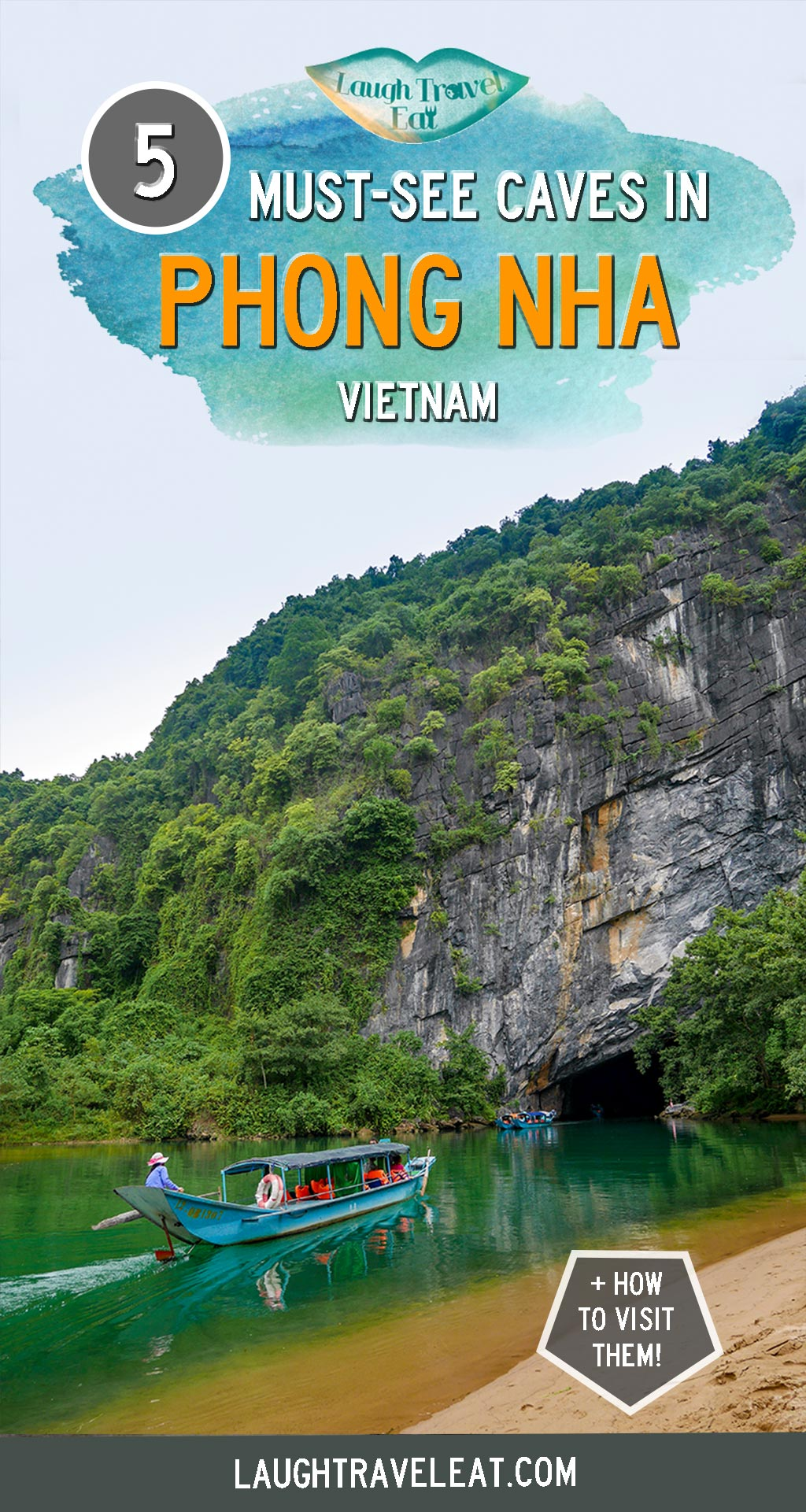Phong Nha is a small town in north central Vietnam with one of the best cave structures in the world. Here's where to stay, what to eat, and how to visit these amazing caves #PhongNha #Vietnam