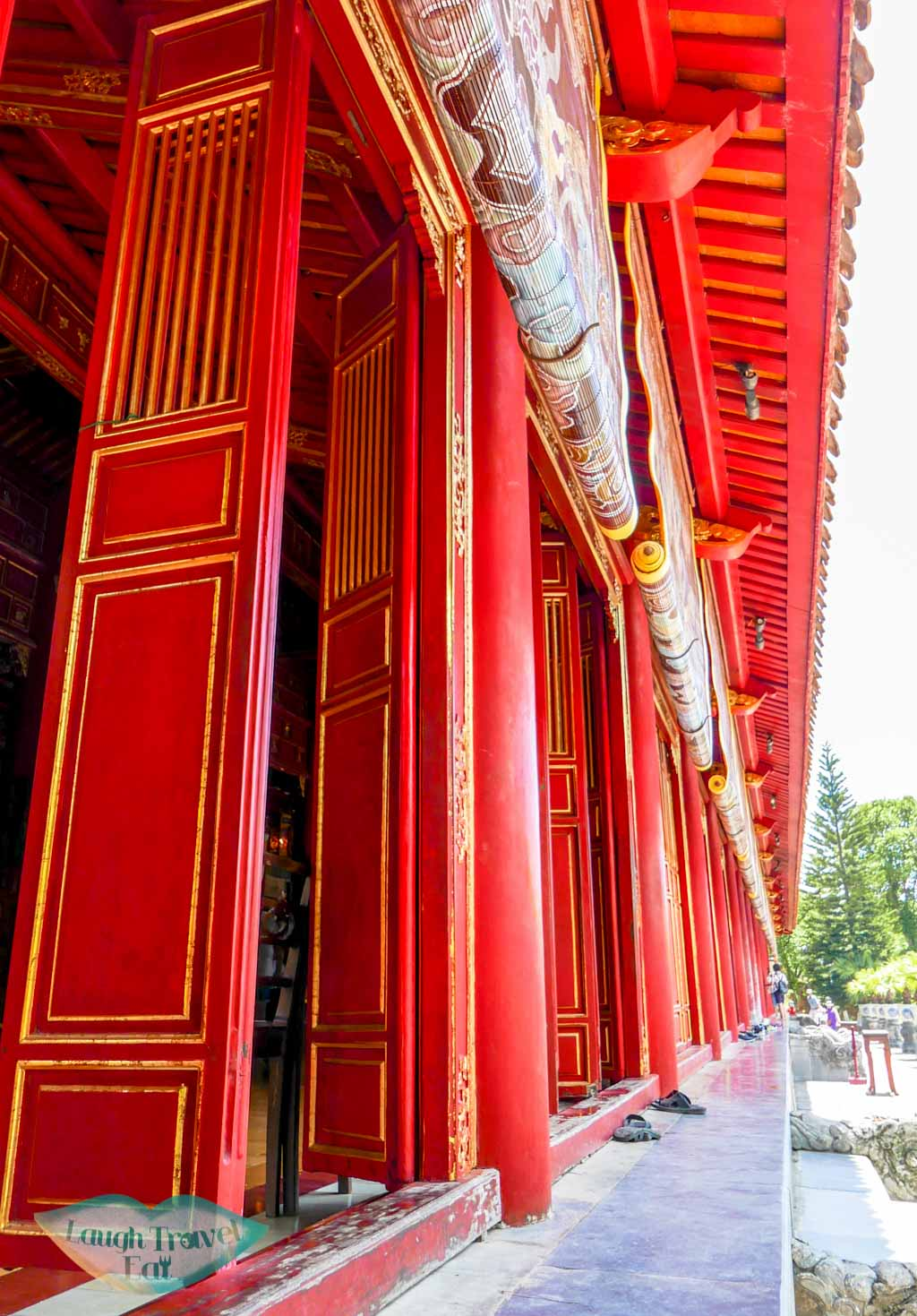 red doors, Hue Citadel, Hue, Vietnam - Laugh Travel Eat