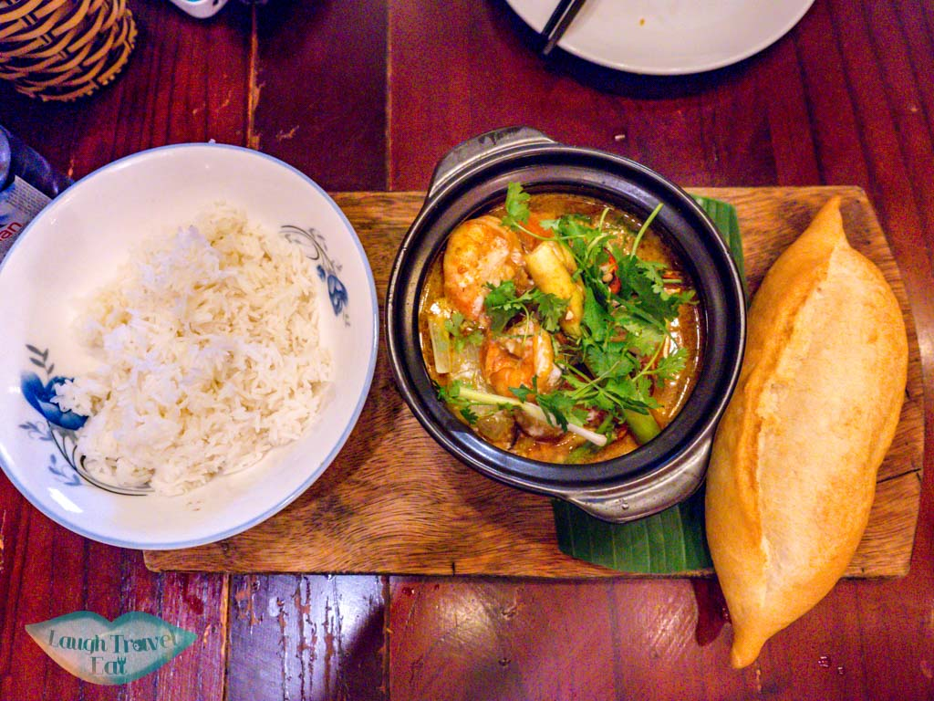 shrimp curry morning glory original hoi an vietnam - laugh travel eat