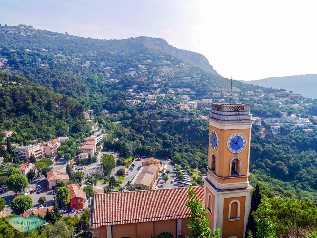 Eglise Notre Dame de l'Assomption from above Eze South of France | Laugh Travel Eat