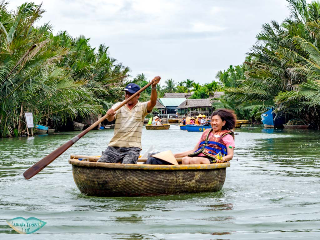 bamboo rafting hoi an vietnam - laugh travel eat
