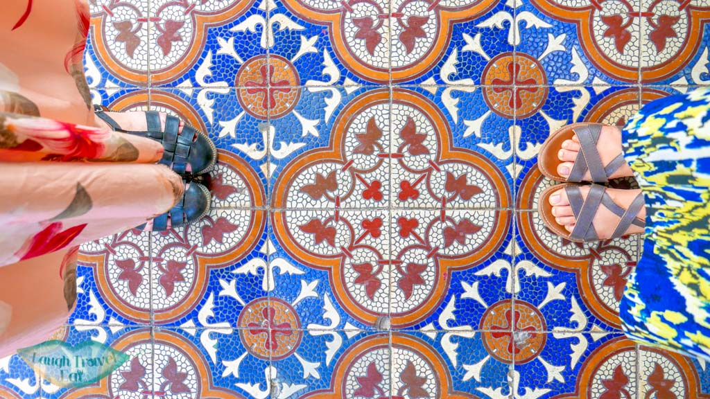 beautiful tile floors of quang cong temple, Hoi An, Vietnam - Laugh Travel Eat