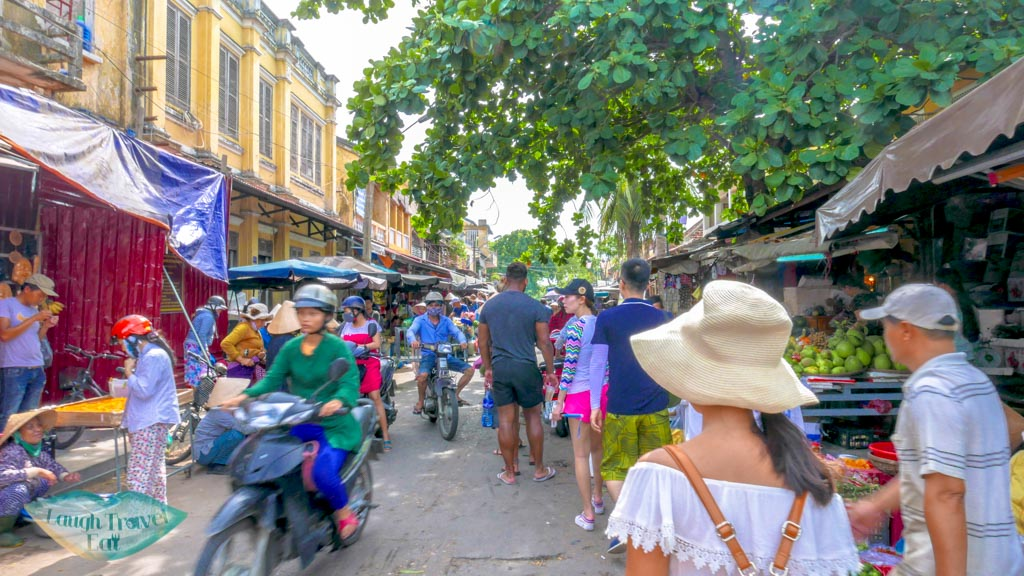 choas in central market, Hoi An, Vietnam - Laugh Travel Eat
