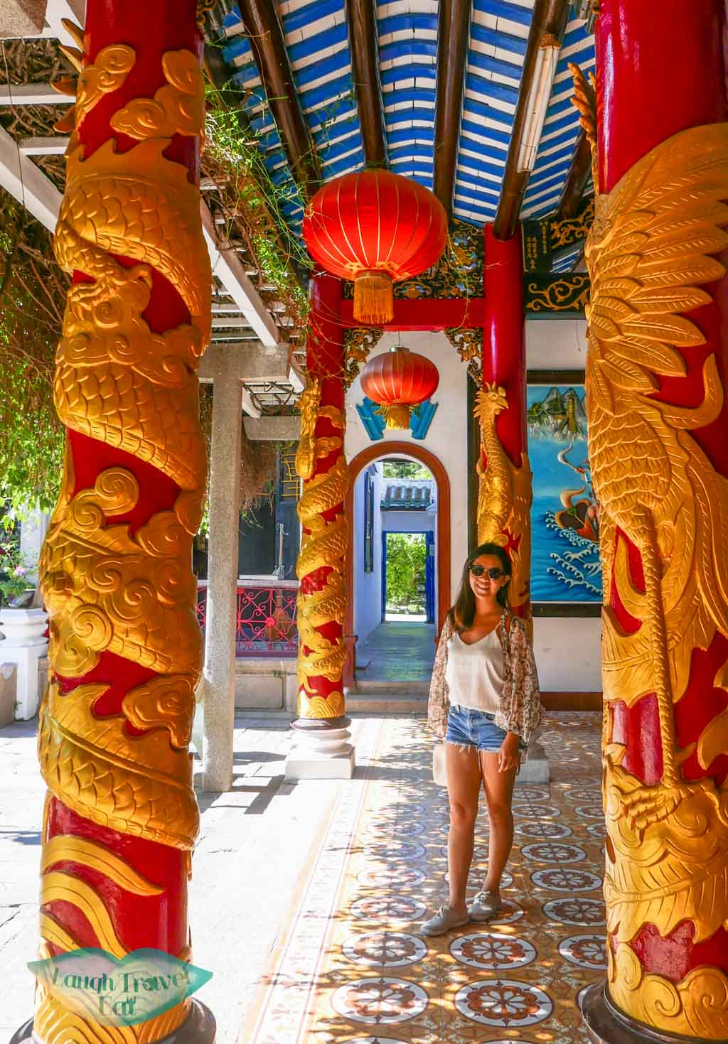 dragon pillars, Quang Trieu Assembly Hall, Hoi An, Vietnam - Laugh Travel Eat