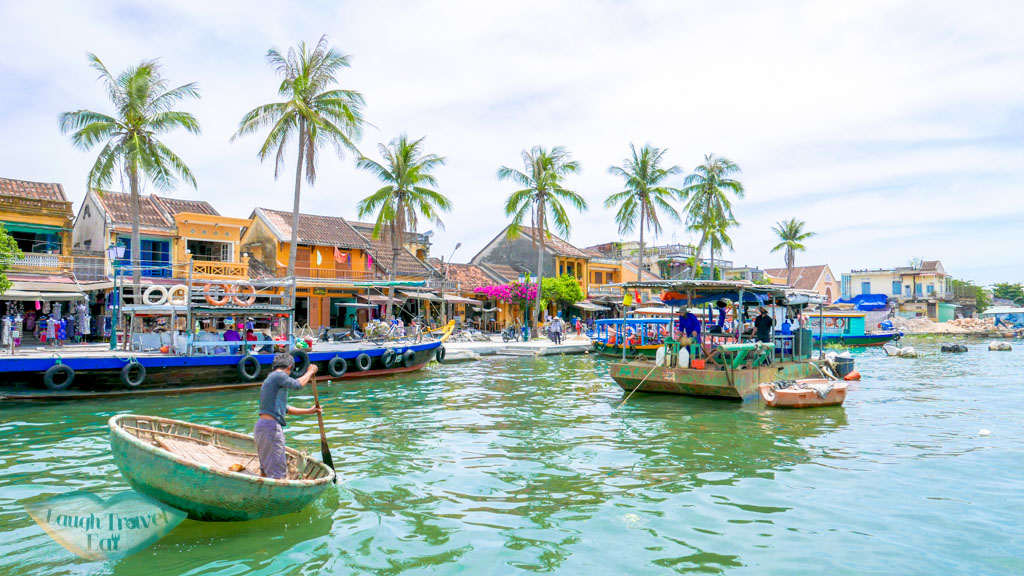 habour pier in Old Town Hoi An, Vietnam - Laugh Travel Eat
