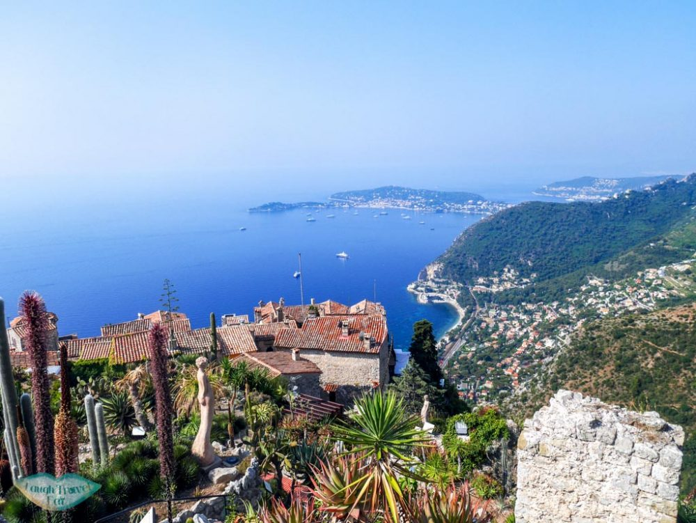 view from exotic garden Eze South of France | Laugh Travel Eat
