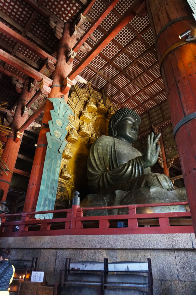Bronze Buddha statue at Todaiji at Nara, Japan | Laugh Travel Eat