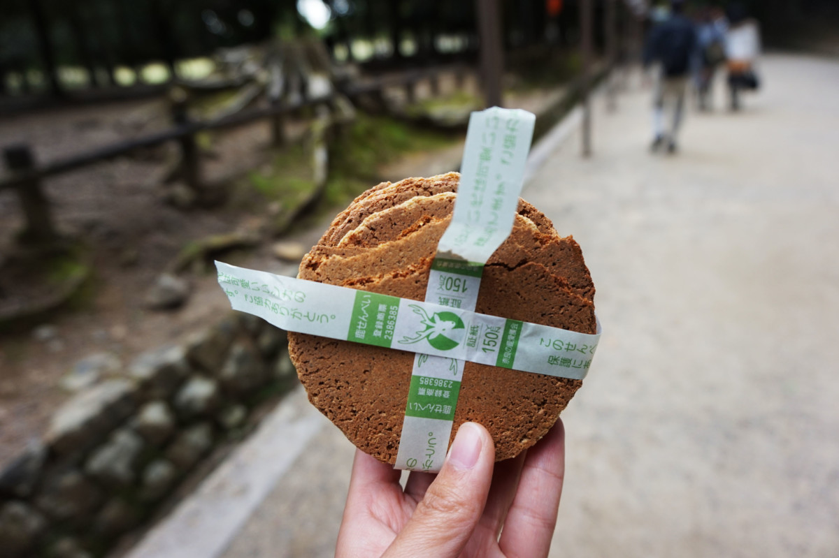 One pack of deer biscuits purchased at Nara Deer Park | Laugh Travel Eat