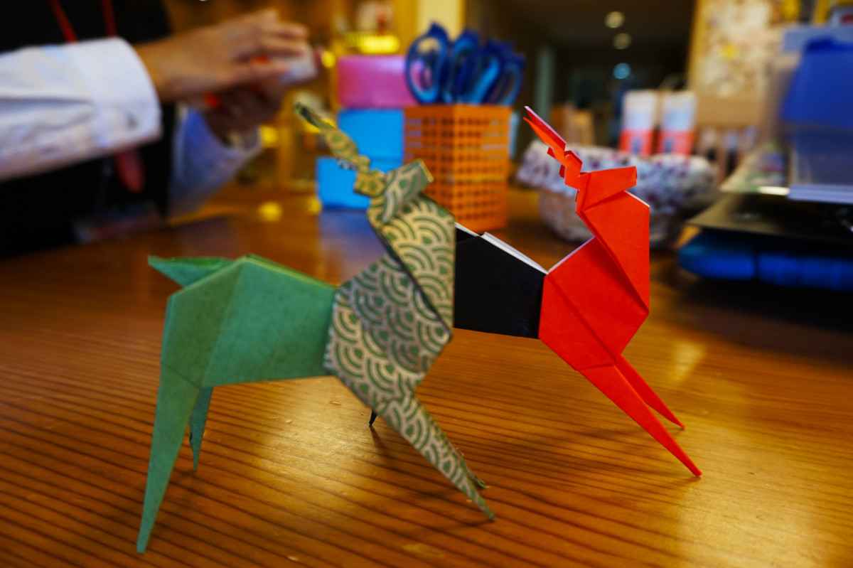 Deer origami taught by staff at Nara Visitor Center and Inn in Nara, Japan | Laugh Travel Eat