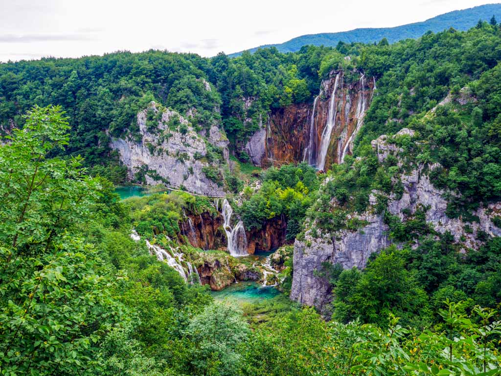 further waterfall plitvice national park croatia