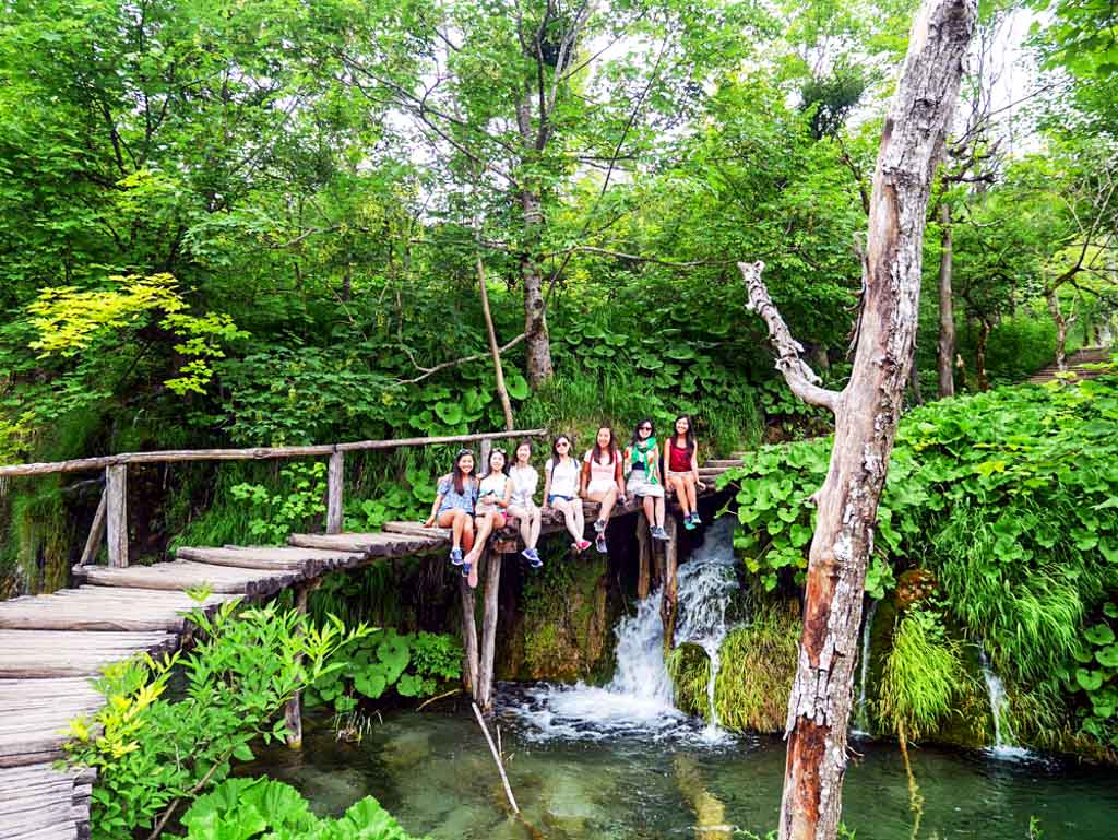 best group shot plitvice national park croatia